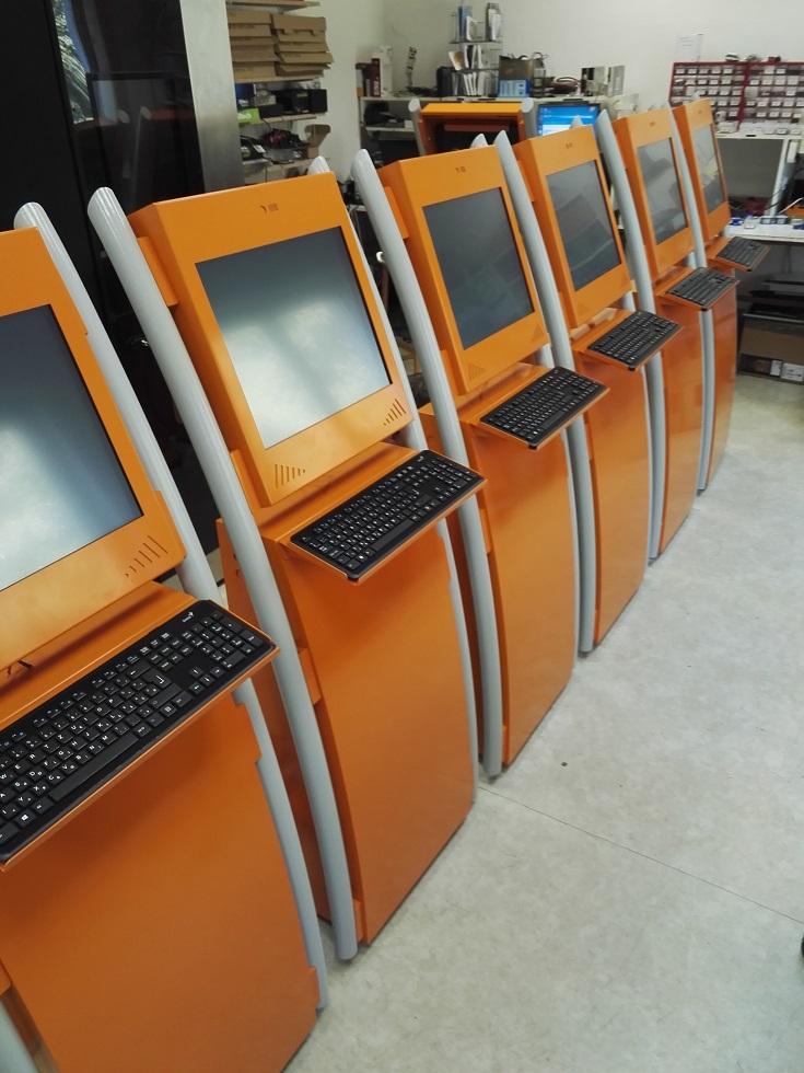 Voorbeeld van een kiosk systeem